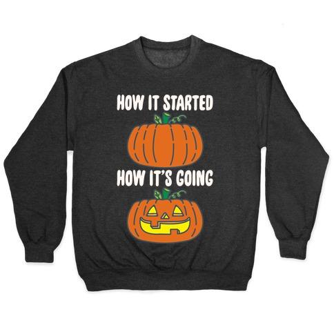 How It Started Jack O Lantern' Parody White Print Pullover