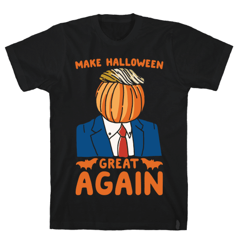 Make Halloween Great Again Parody White Print Mens T-Shirt