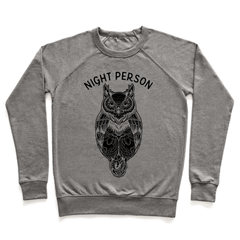 Night Person Owl Pullover