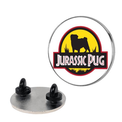 Jurassic Pug pin
