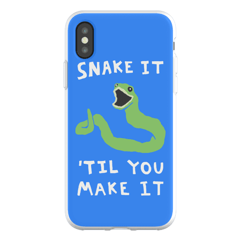 Snake It 'Til You Make It Phone Flexi-Case