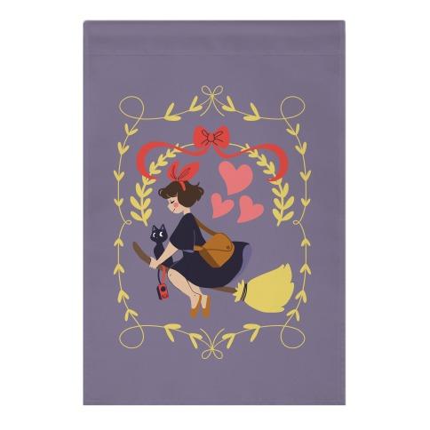 Delivery Witch - Kiki  Garden Flag