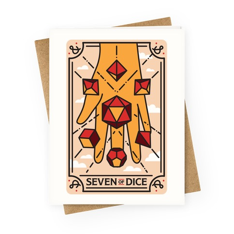 Seven of Dice - D&D Tarot Greeting Card