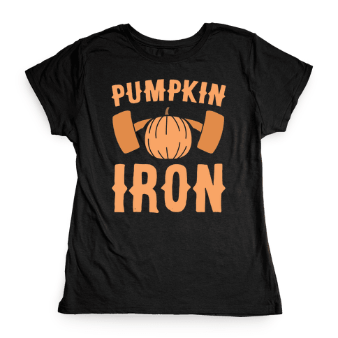 Pumpkin Iron Womens T-Shirt