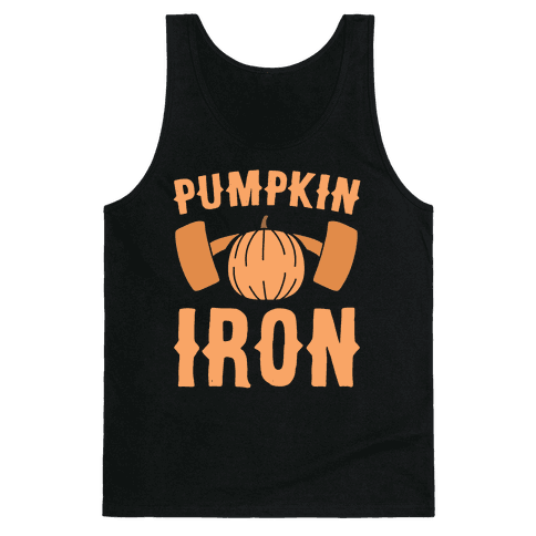 Pumpkin Iron Tank Top