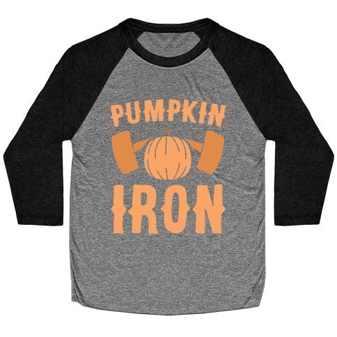 Pumpkin Iron Baseball Tee