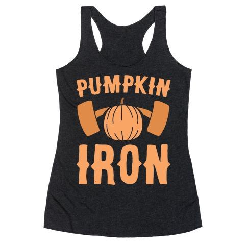 Pumpkin Iron Racerback Tank Top