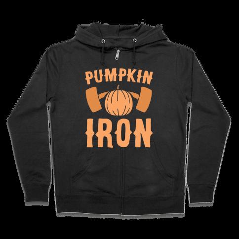 Pumpkin Iron Zip Hoodie