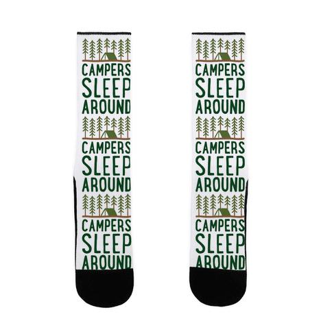 Campers Sleep Around Sock