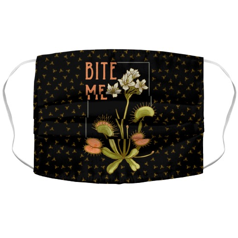 Bite Me Venus Flytrap Accordion Face Mask