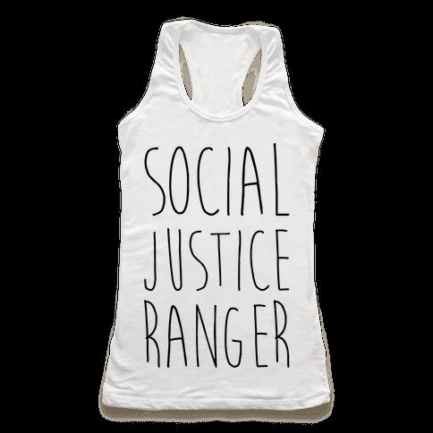 Social Justice Ranger Racerback Tank Top