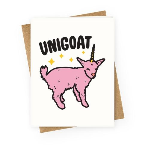 Unigoat Goat Unicorn Greeting Card