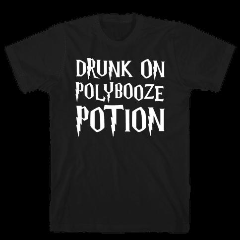 Drunk On Polybooze Potion Parody White Print Mens T-Shirt