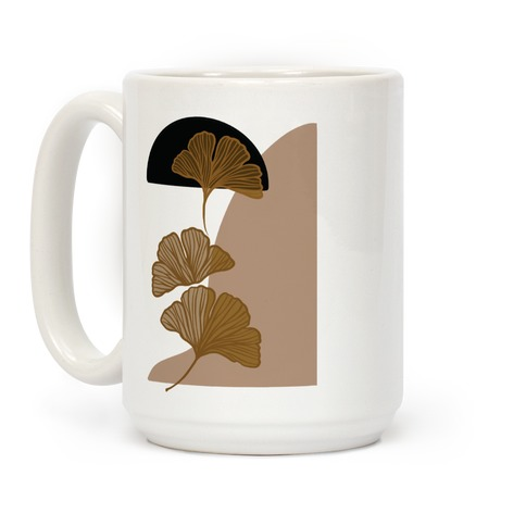 Minimalist Ginkgo Leaf Illustration Coffee Mug
