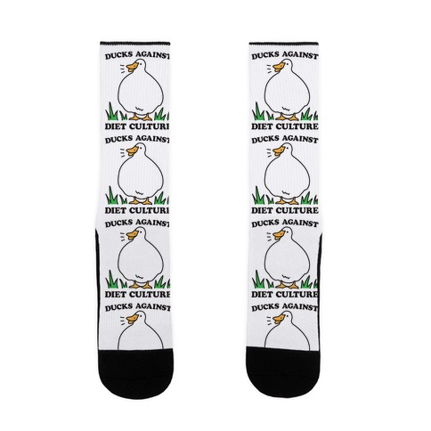 Ducks Against Diet Culture Sock
