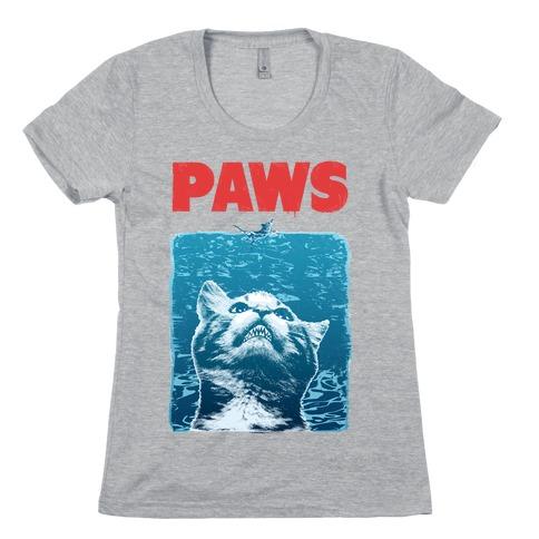 PAWS (Vintage Parody) Womens T-Shirt
