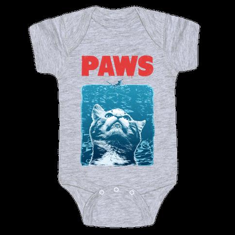 PAWS (Vintage Parody) Baby Onesy