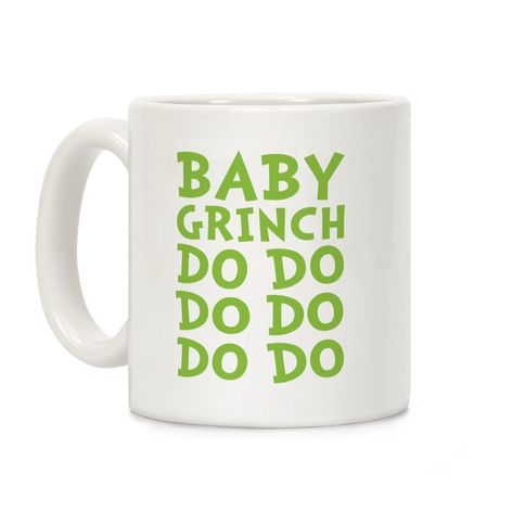 Baby Grinch Baby Shark Parody Coffee Mug
