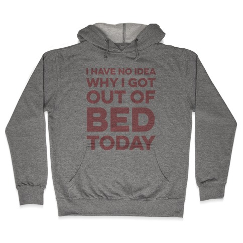 I Have No Idea Why I Got Out Of Bed Today Hooded Sweatshirt