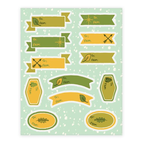 Wanderlust Nature Gift Tags Sticker and Decal Sheet
