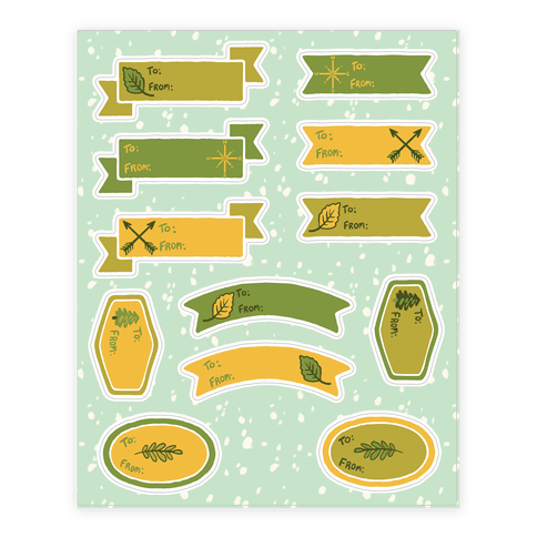 Wanderlust Nature Gift Tags Sticker/Decal Sheet
