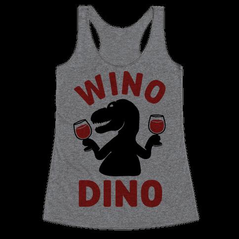 Wino Dino Racerback Tank Top