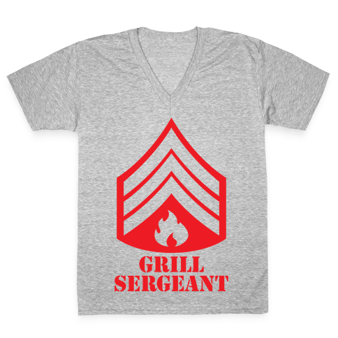 Grill Sergeant V-Neck Tee Shirt