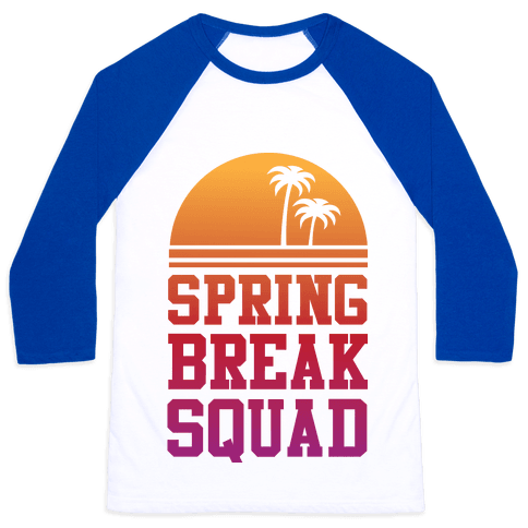 Spring Break Squad Baseball Tee
