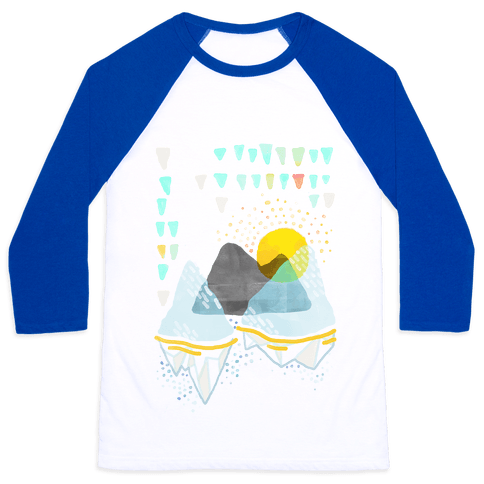 Watercolor Landscape Baseball Tee
