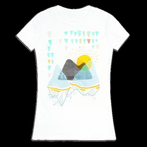 Watercolor Landscape Womens T-Shirt