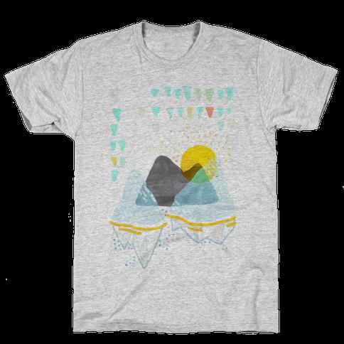 Watercolor Landscape Mens T-Shirt