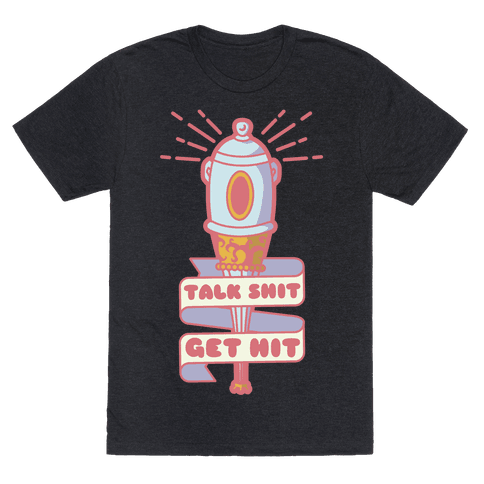 Talk Shit Get Hit Pella Magi Bat Mens T-Shirt