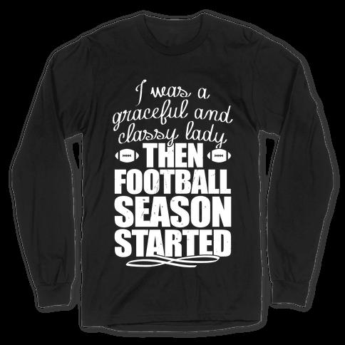 Football Lady Long Sleeve T-Shirt