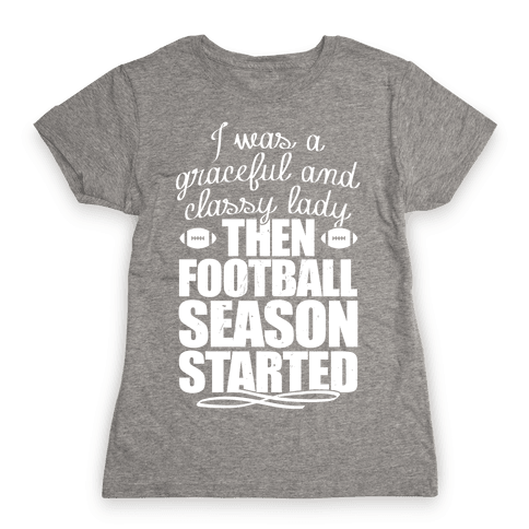 Football Lady Womens T-Shirt