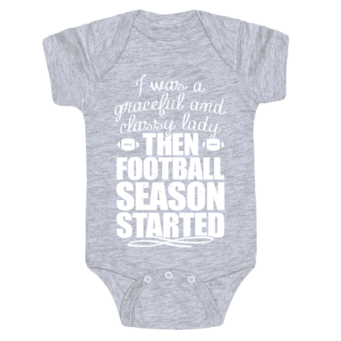 Football Lady Baby Onesy