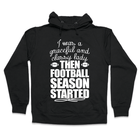 Football Lady Hooded Sweatshirt