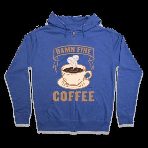 Damn Fine Coffee Zip Hoodie