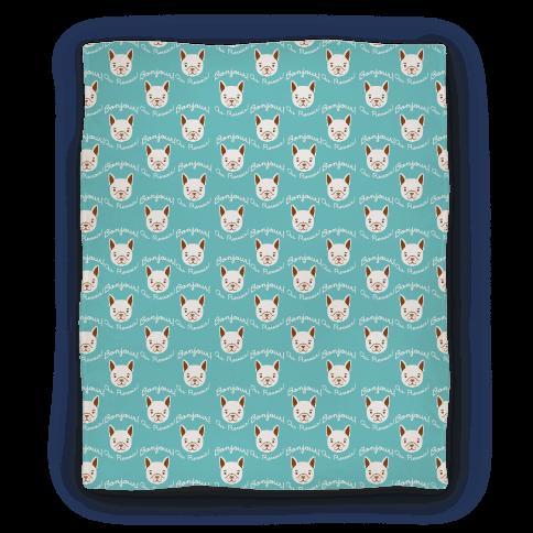 Bonjour French Bulldog Blanket