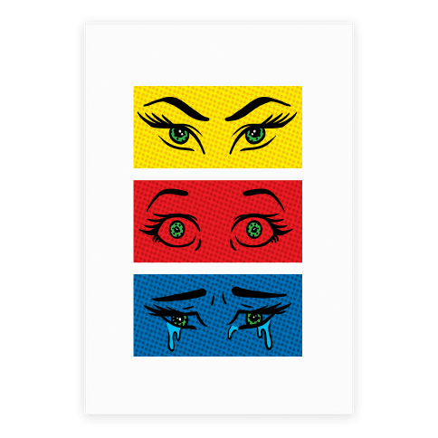 Pop Art Eyes Poster