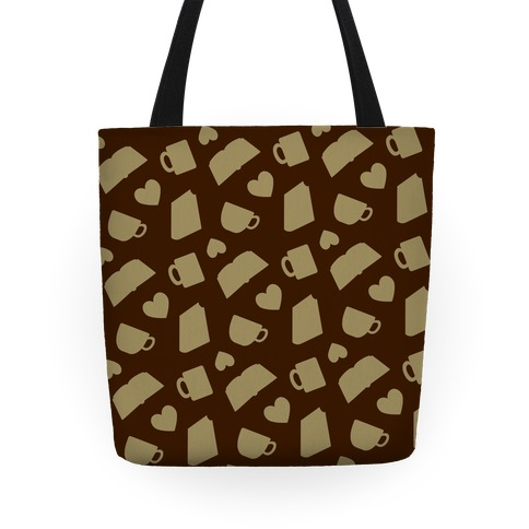 Coffee, Books, & Hearts Tote