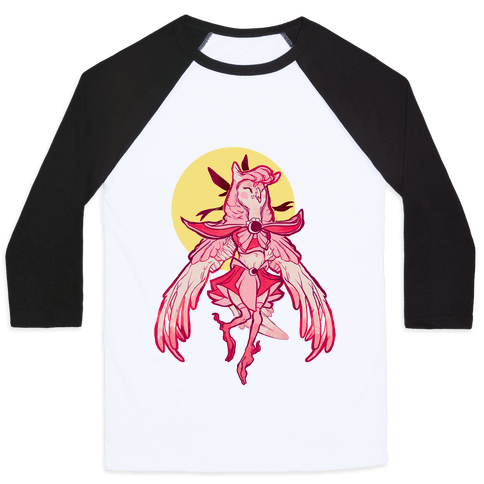 Magical Owl Girl Baseball Tee