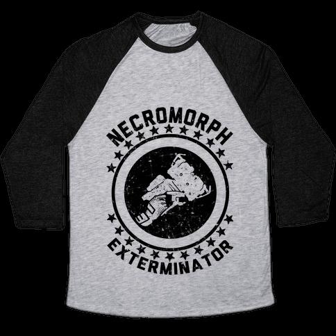 Necromorph Exterminator Baseball Tee