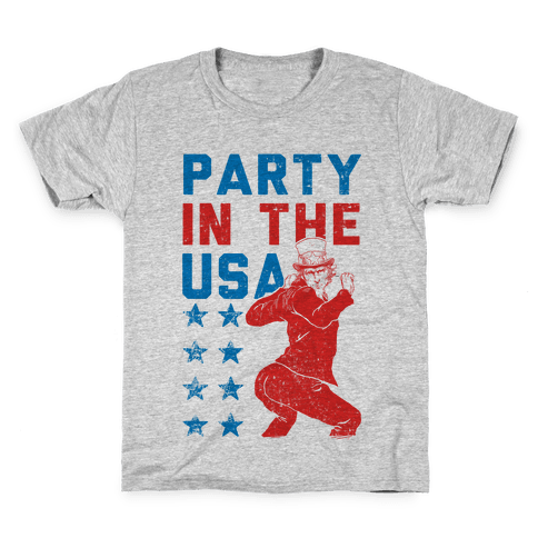 Party In The USA Uncle Sam Kids T-Shirt