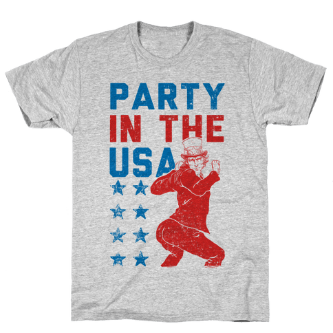 Party In The USA Uncle Sam Mens T-Shirt