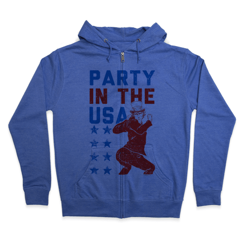 Party In The USA Uncle Sam Zip Hoodie