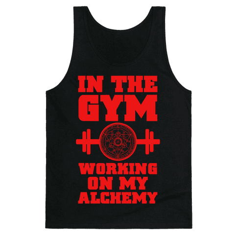 In the Gym Working on my Alchemy Tank Top
