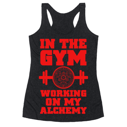 In the Gym Working on my Alchemy Racerback Tank Top