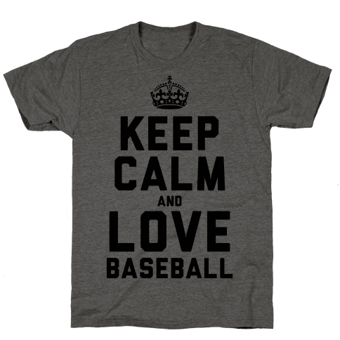Keep Calm and Love Baseball Mens T-Shirt