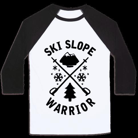 Ski Slope Warrior Baseball Tee