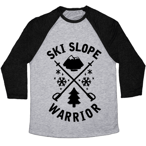 Ski Slope Warrior Baseball Tee